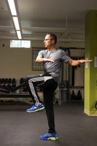 Todd demonstrating rotation and balance