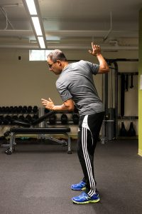 Todd demonstrating upper body rotation