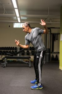 Todd demonstrating upper body demonstration