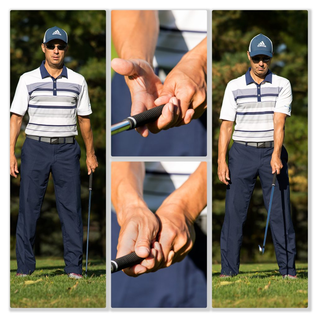 Collage of Todd demonstrating grip options