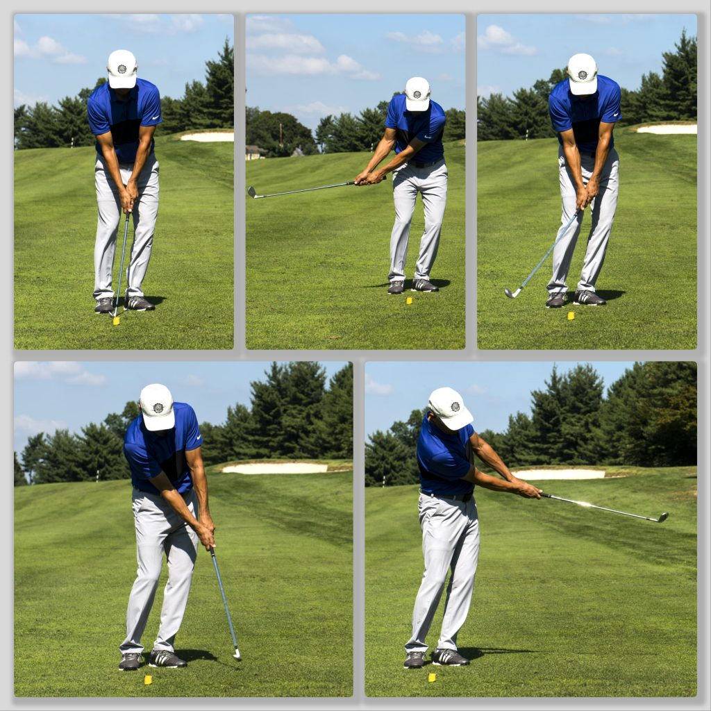 Todd demonstrating the divot drill